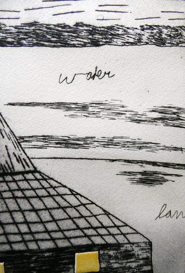 Harrie Gerritz - Eenzame schuur voor zonsopgang, detail